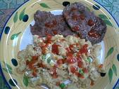 食物:牛排+義大利彎麵
