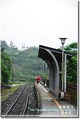 平溪_望古車站:月台上踽踽獨行老人背影