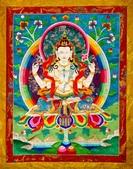 藏傳藝術:四臂觀音