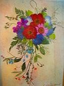 壓花作品區:5*7大小的瀑布型花束