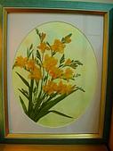 壓花作品區:橙黃素馨蘭