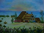壓花作品區:戀海的屋