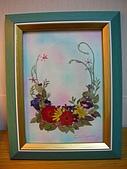 壓花作品區:6*8大小藍紫色捧花花束
