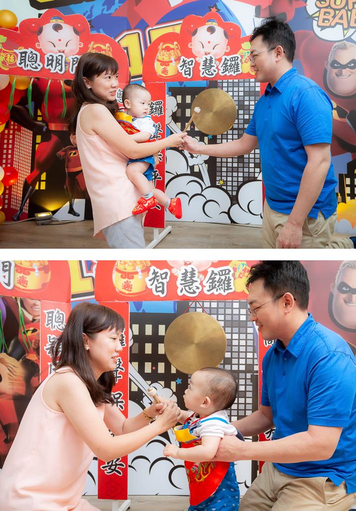 HELLO JAZZ 抓周,台北親子寫真抓周,親子餐廳抓周,小陳拍抓周