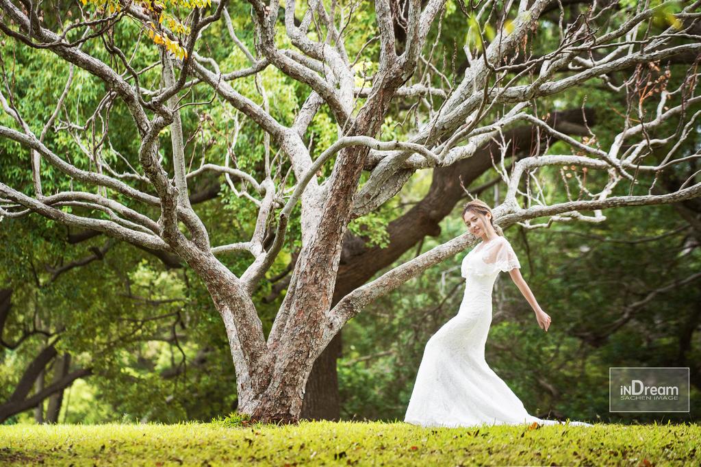 森林風婚紗