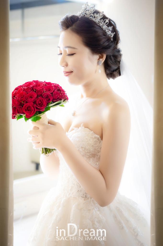 新竹婚攝,竹北晶宴,紅色捧花