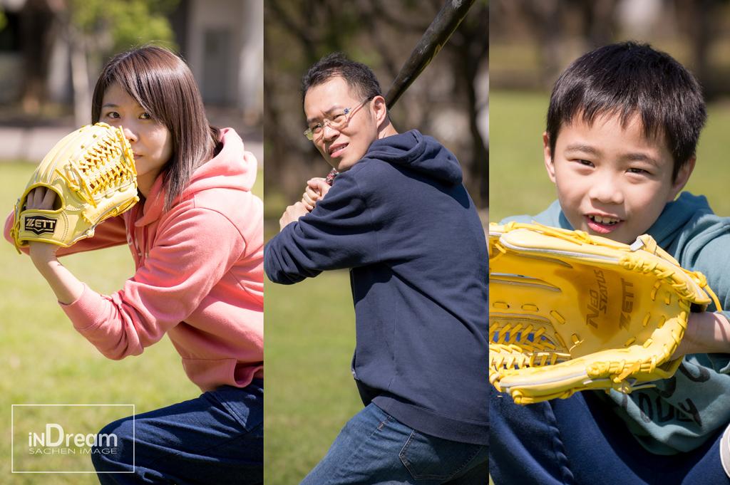 棒球親子寫真,兒童寫真,親子全家福