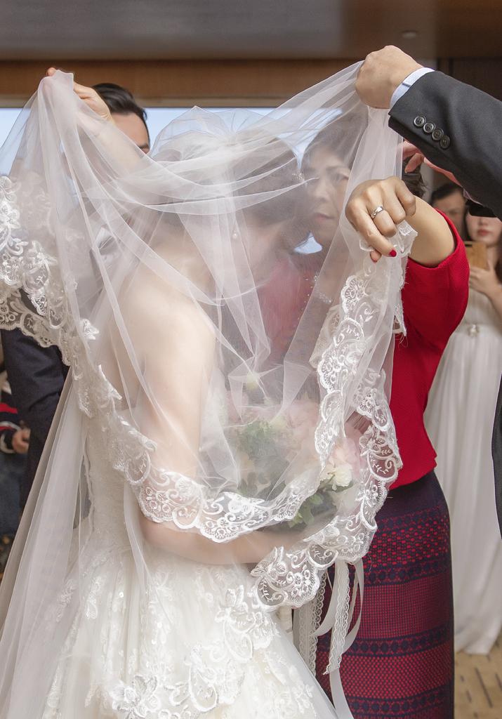 台北婚攝,拜別,蓋頭紗