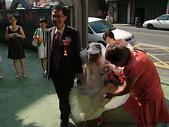950624 Jerry&Jinna 結婚照片:二嬸幫我拉裙擺
