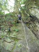 4-5  台灣櫻花鉤吻鮭  族群數量調查:DSCN9420  數魚-桃山西溪-垂降的四號壩調查起點