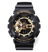特價爆款G-SHOCK手錶 CASIO手錶 美國隊長2 鋼鐵俠 卡西歐雙顯LED運動手錶:黑金 爆款G-SHOCK手錶