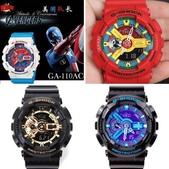 特價爆款G-SHOCK手錶 CASIO手錶 美國隊長2 鋼鐵俠 卡西歐雙顯LED運動手錶:相簿封面