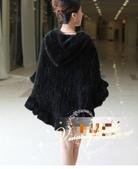 水貂披肩:T0021680新款帶帽進口水貂皮草斗蓬披肩女款貂皮皮草外套-黑色3.jpg