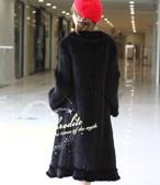 水貂披肩:T00162380歐美外單奢華高檔的水貂毛編織中長皮草衣服水貂皮草外套大碼-純色黑貂4.jpg