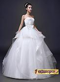10月(1):43236555819婚紗禮服新款公主結婚韓版綁帶顯瘦齊地抹胸新娘大碼婚紗1.jpg