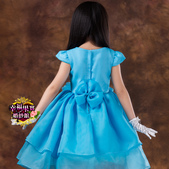 5月新款:41290014390高檔女童公主裙兒童婚紗禮服大童花童婚紗裙蓬蓬裙白色禮服裙童裝3.jpg