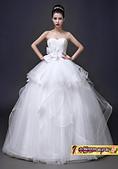 10月(1):43236555819婚紗禮服新款公主結婚韓版綁帶顯瘦齊地抹胸新娘大碼婚紗.jpg