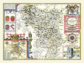 Antique map of British:Map of Derbyshire.JPG