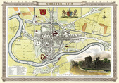 Antique map of British:Map of Chester.JPG
