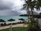 Guam 的短暫停留:度假村的海灘