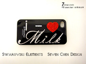 Apple_iphone__貼鑽設計:7-Design Studio_Swarovski 元素_手機貼鑽_i phone 4s_保護殼_i love milk_水晶 水鑽_貼鑽設計-4.jpg