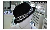 seven chen_水晶_水鑽_鑲鑽_燙鑽_設計:seven chen_Made with Swarovski Elements_帽子貼鑽_時尚_紳士帽_爵士