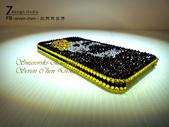 Apple_iphone__貼鑽設計:7 Design 工作室_Swarovski 元素_手機貼鑽_iphone 4s 保護殼 Yellow Rose_skull_水晶 水鑽 貼鑽設計-3.jpg
