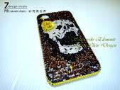 Apple_iphone__貼鑽設計:7 Design 工作室_Swarovski 元素_手機貼鑽_iphone 4s 保護殼 Yellow Rose_skull_水晶 水鑽 貼鑽設計-5.jpg