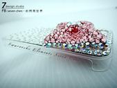 Apple_iphone__貼鑽設計:7-Design Studio_Swarovski 元素_手機貼鑽_i phone 4s_保護殼_蝴蝶結-粉紅_水晶 水鑽_貼鑽設計-5.jpg