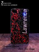 Apple_iphone__貼鑽設計:7-Design 工作室_Swarovski 元素_手機貼鑽_iphone 4s_時尚花紋 紅_水晶 水鑽 貼鑽設計-1.jpg