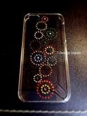 Apple_iphone__貼鑽設計:7-Design 工作室_Swarovski 元素_手機貼鑽_iphone 5 透明保護殼_普普風_水晶 水鑽 貼鑽設計