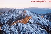 山山山:王山頂攝玉南峰日出高山太陽2005-01-24