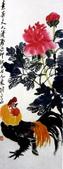 中國現代十大名家之齊白石作品欣賞:公鸡牡丹.jpg