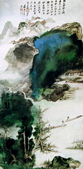 中國現代十大名家之張大千作品欣賞 :高岩古寺.jpg