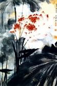中國現代十大名家之張大千作品欣賞 :荷.jpg
