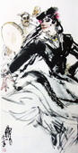 中國現代十大名家之黃冑作品欣賞:刀朗舞.jpg