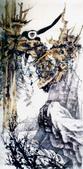 中國現代十大名家之張大千作品欣賞 :老树腾猿.jpg