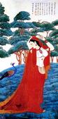 中國現代十大名家之張大千作品欣賞 :坚印度画侍女.jpg