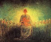 世界傳世名畫:百合圣母.jpg