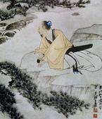 中國現代十大名家之張大千作品欣賞 :松下抱琴.jpg