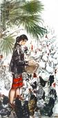 中國現代十大名家之黃冑作品欣賞:五指山下.jpg