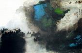 中國現代十大名家之張大千作品欣賞 :山崖云屋.jpg