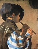 世界傳世名畫:吹笛少年.jpg