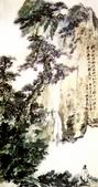 中國現代十大名家之張大千作品欣賞 :松崖飞瀑.jpg