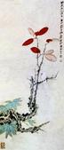 中國現代十大名家之張大千作品欣賞 :红叶小鸟.jpg