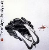 中國現代十大名家之齊白石作品欣賞:白菜蝈蝈.jpg