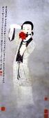 中國現代十大名家之張大千作品欣賞 :持花侍女.jpg