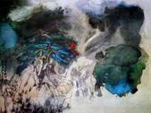 中國現代十大名家之張大千作品欣賞 :飞泉图.jpg
