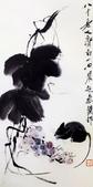 中國現代十大名家之齊白石作品欣賞:老鼠葡萄.jpg