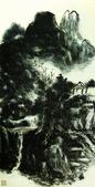 中國現代十大名家之黃賓虹作品欣賞:山水轴2.jpg